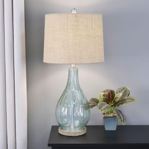 Emma Embossed Gl Table Lamp
