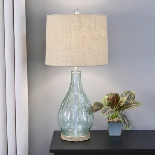 Emma Embossed Glass Table Lamp (2 options available)