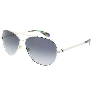 Kate Spade Aviator KS Avaline2 10 Womens Palladium Frame Dark Grey Gradiend Lens Sunglasses