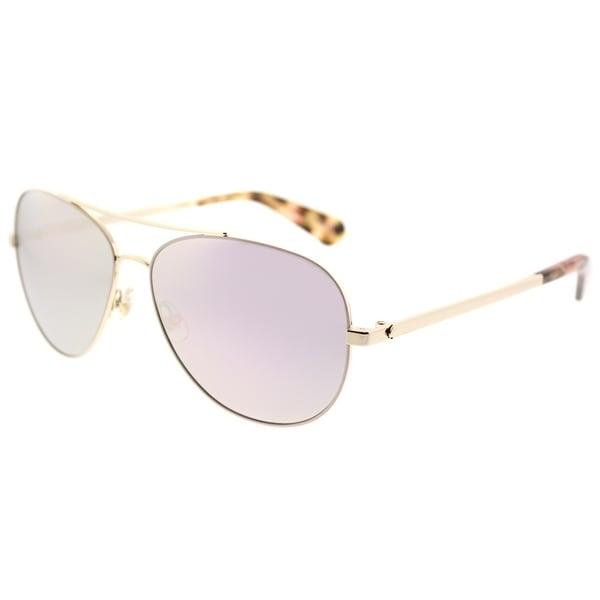 Kate Spade Aviator KS Avaline2 HT8 Womens Pink Havana Frame Rose Gold Mirror  Lens Sunglasses a228c7365d
