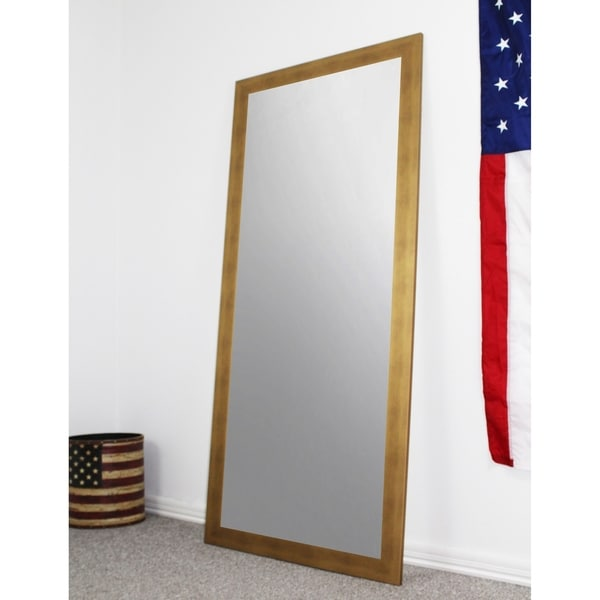 U.S. Made Full Body/Floor Length Mirror - Gold - Free Shipping Today ...