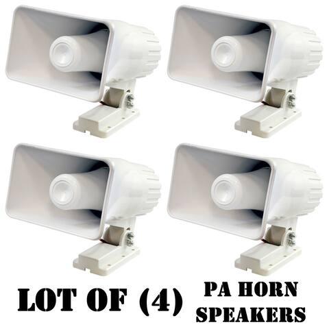 Pyle PHSP4 6'' Indoor / Outdoor 50 Watts PA Horn Speaker- 4 units