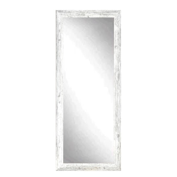 Distressed White Grey Barnwood Floor Mirror - Free Shipping Today ...