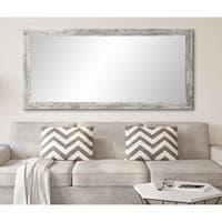 Distressed White Grey Barnwood Floor Mirror
