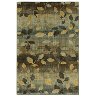 "Mohawk Savannah Brown/Green Dappled Area Rug (5'3 x 7'10) - 5'3"" x 7'10"""