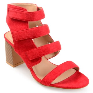 Journee Collection Women's 'Perkin' Strappy Cut-out Heel Caged Sandals