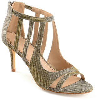 Journee Collection Women's 'Sienna' Cut-out Open-toe Glitter Caged Heels (More options available)