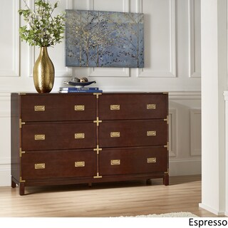 Kedric 6-Drawer Gold Accent Dresser by iNSPIRE Q Bold