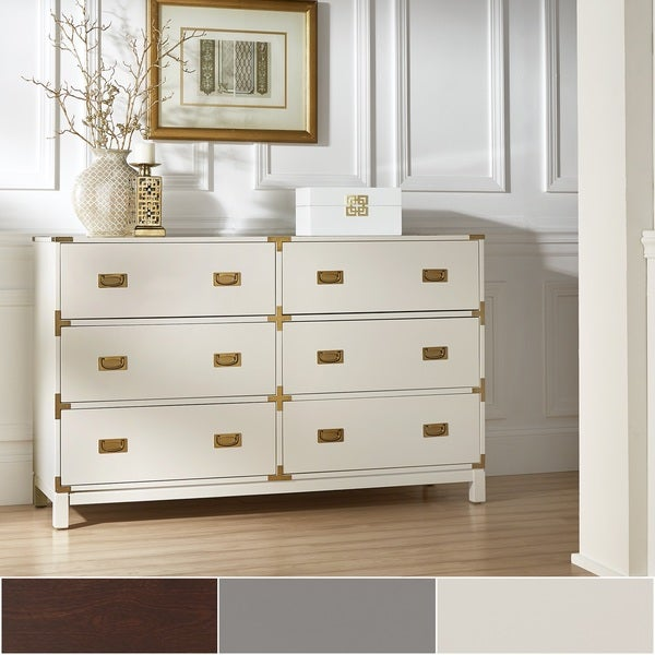 Kedric 6-Drawer Gold Accent Dresser by iNSPIRE Q Bold. Opens flyout.