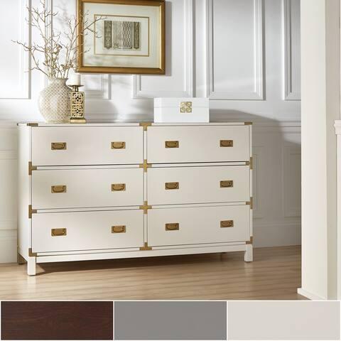 Kedric 6-Drawer Gold Accent Dresser by iNSPIRE Q Bold
