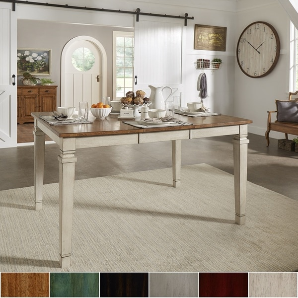 Elena Solid Wood Extendable Counter Height Dining Table by iNSPIRE Q Classic. Opens flyout.