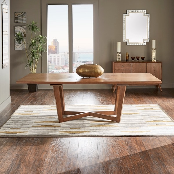 Shop Connie Mid Century Extending Wood Dining Table By Inspire Q