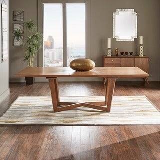 Connie Mid-Century Extending Wood Dining Table by iNSPIRE Q Modern - Walnut