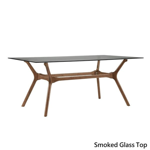 Shop Nadine Mid Century Walnut Finish Rectangular Dining Table By Inspire Q Modern On Sale Overstock 18218128