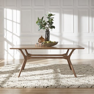 Nadine Mid-Century Walnut Finish Rectangular Dining Table by iNSPIRE Q Modern