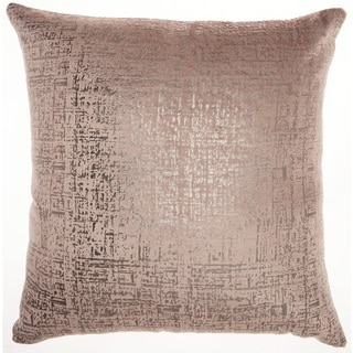 """Inspire Me! Home Décor Distressed Metallic Nude Throw Pillow (24"""" x 24"""" ) by Nourison"""