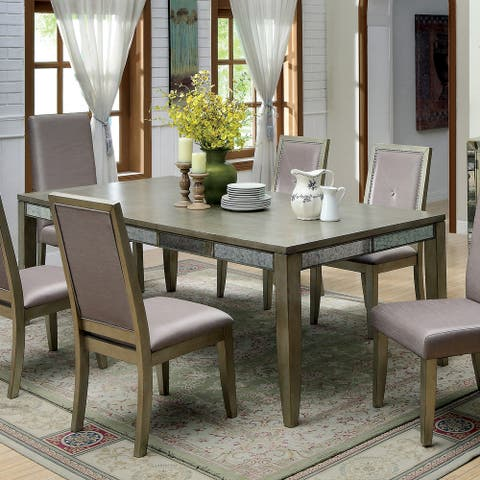Furniture of America Suva Contemporary Gold 90-inch Dining Table - Brown/Gold