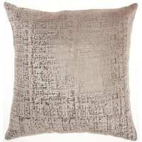 Inspire Me! Home Décor Metallic Beige Throw Pillow by Nourison (18-Inch X 18-Inch)