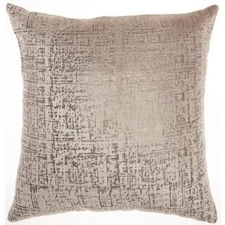 "Inspire Me! Home Décor Metallic Beige Throw Pillow (18"" x 18"") by Nourison"