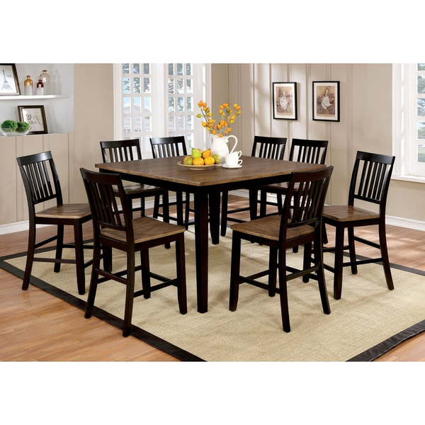 Furniture Of America Fresial 9 Piece Counter Height Dining Set
