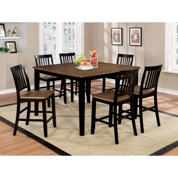 Counter Height Dining Sets On Sale: Shop Furniture Of America Fresial 7-piece Rustic Oak