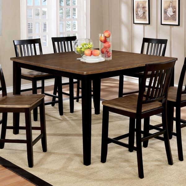 Shop Furniture Of America Fresial Rustic Oak/Espresso