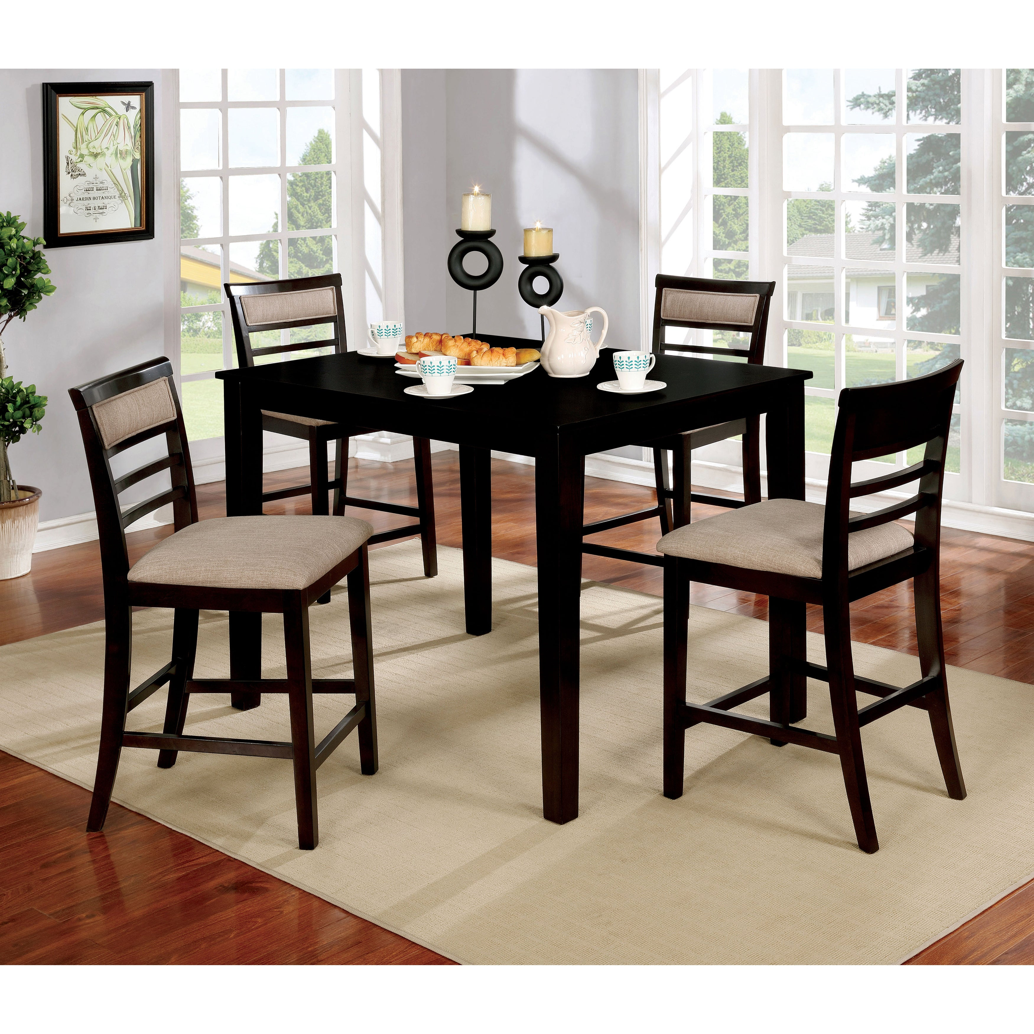 Shop Furniture Of America Yevana Contemporary 5 Piece Counter Height