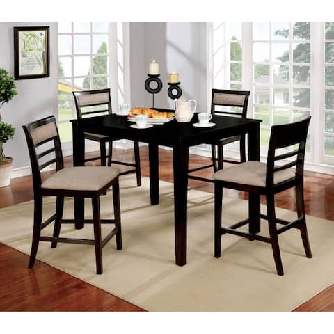 Copper Grove Ewart 5-piece Counter Height Upholstered Dining Set
