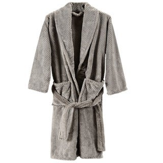 Cheer Collection Shawl Collar Unisex Flannel Bathrobe