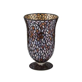 Elements 11 Inch Glass Mosaic Bell Vase