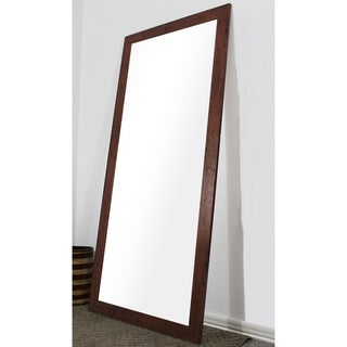 Rayne Mirrors Dark Walnut Rustic Full Body Mirror. Rayne Mirrors Black Full body Floor length American made Mirror