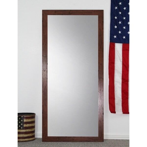 U.S. Made Full Body/Floor Mirror - Dark Walnut - Free Shipping Today ...