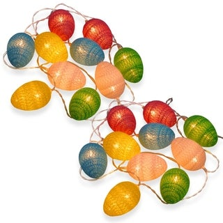 Battery Operated Easter Egg Light String Two-Pack
