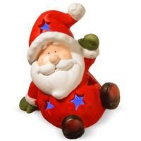 "13.4"" Lighted Holiday Santa Decor"