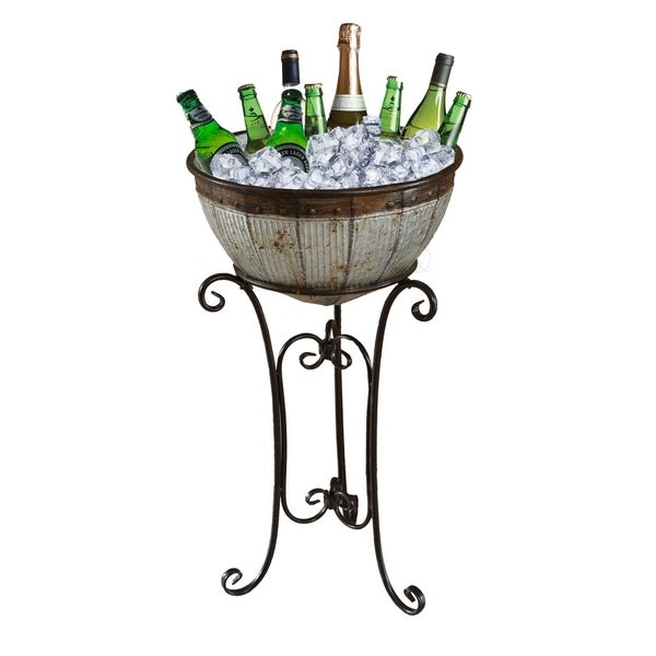 Shop Galvanized Metal Beverage Cooler Tub With Stand