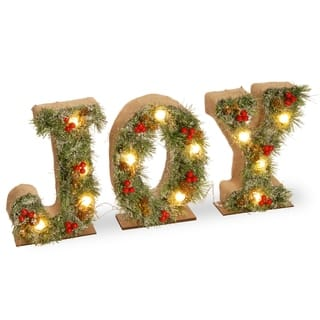27 pre lit joy decoration
