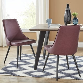 Division Mid-Century Mixed Media Dining Chairs (Set of 2) by iNSPIRE Q Modern