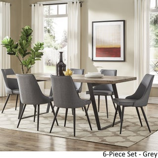 Division Mid-Century Split Top Rectangular Dining Set by iNSPIRE Q Modern (More options available)