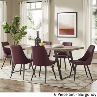 Division Mid-Century Split Top Rectangular Dining Set by iNSPIRE Q Modern (2 options available)