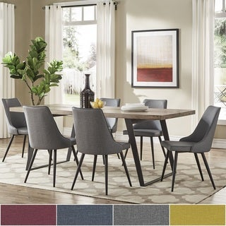 Division Mid-Century Split Top Rectangular Dining Set by iNSPIRE Q Modern