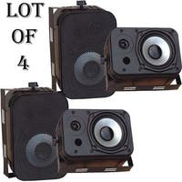 Pyle  PDWR40B 5.25 inch Indoor and Outdoor Waterproof Speakers  Black 2 Pairs