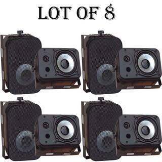 "Pyle PDWR40B 5.25"" Indoor/Outdoor Waterproof Speakers (Black)-4 Pairs https://ak1.ostkcdn.com/images/products/18218412/P24360250.jpg?impolicy=medium"