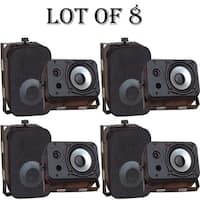 Pyle PDWR40B 5.25 inch Indoor and Outdoor Waterproof Speakers  Black 4 Pairs