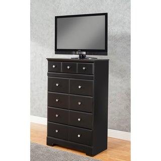 Sandberg Furniture Elena Black Wood 5-drawer Chest