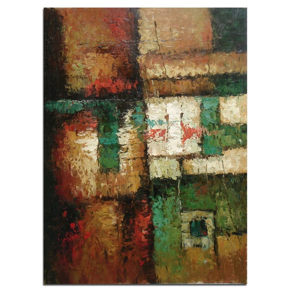 "Modern Abstract Art, Oil Painting of Beautiful Colors and Patterns on Canvas 24""x36"" - 24 x 36"