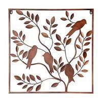 Elements Metal Bronze Birds In Tree Wall Decor