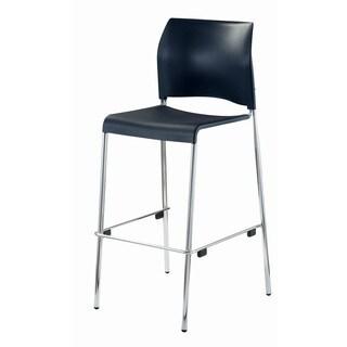 Series Barstools Black Plastic Seat