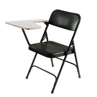 Premium Folding Chair with High Pressure Grey Nebula Tablet Arm Carton Of 2