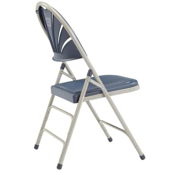 Pleasing Shop National Public Seat Dark Blue Polyfold Fan Back Triple Ibusinesslaw Wood Chair Design Ideas Ibusinesslaworg