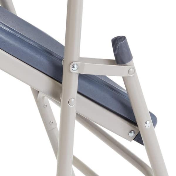 Swell Shop National Public Seat Dark Blue Polyfold Fan Back Triple Ibusinesslaw Wood Chair Design Ideas Ibusinesslaworg